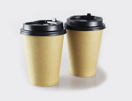 Plain White Single Wall Coffee Cup By Kraft Paper Inside With PE Coated