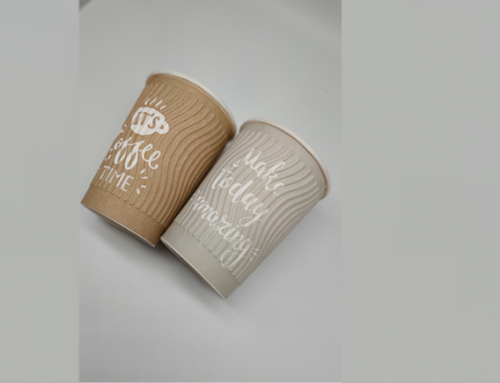 Embossed paper cup